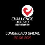 Comunicado Challenge Madrid